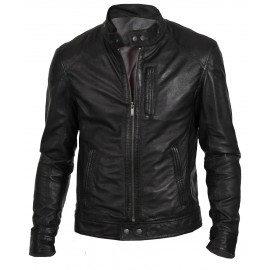 Biker Hunt- Men's Genuine Leather Jacket